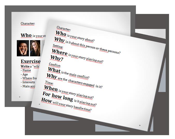 Slides från workshop i kreativt skrivande på engelska