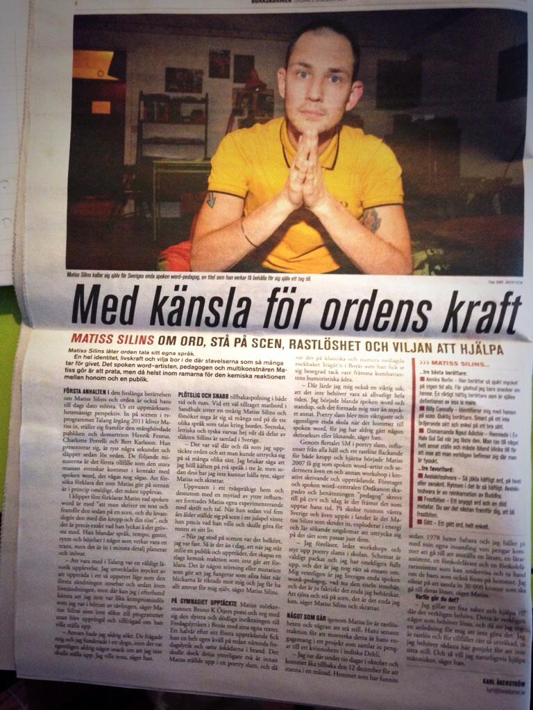 Matiss Silins i BoråsKuriren